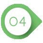 Grün-weißer Kreis mit einer vier darin als Aufzählungszeichen