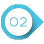 Blau-weißer Kreis mit einer zwei darin als Aufzählungszeichen