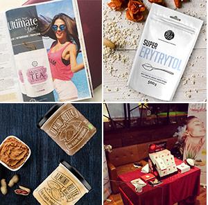 Vier Bildausschnitte mit Lifestyle Bildern von verschiedenen Produkten in verschiedenen Situationen