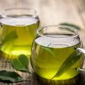 Tasse mit Grün Tee