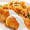 Hühnerfilet mit Nudeln