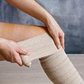 Bandagen um Bein