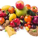 Obst, Gemüse und Nudeln