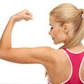 Oberarm Muskeln Frau