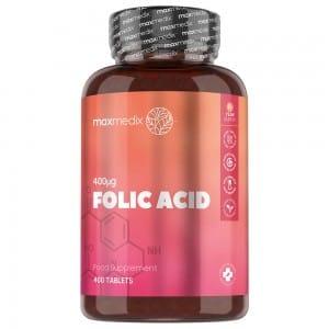 Folsäure Tabletten Natürliche Vitamin B9 Ergänzung Slimcenter