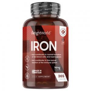Eisentabletten | Nahrungsergänzungsmittel für die normale Funktion des Immunsystems und die normale Bildung von roten Blutkörperchen & Hämoglobin