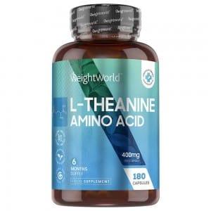 L-Theanin Nahrungsergänzung für Gehirn, Konzentration und Schlaf 400 mg 180 Kapseln