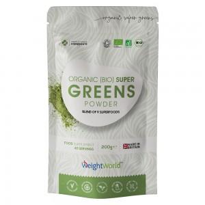 Bio Super Greens Pulver - Starkes natürliches Superfood Gewichtsmanagement & Vitalitätspulver - 200g