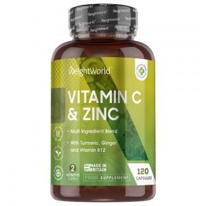 Vitamin C + Zink Kapseln | Natürliche Immunitätsergänzung | WeightWorld