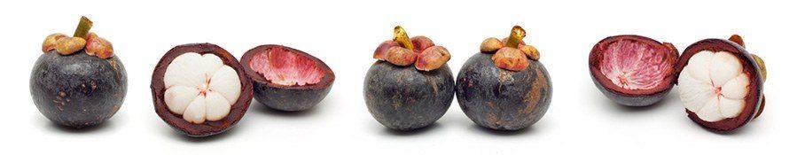 Die Mangostan-Frucht ist so groß wie eine Kiwi