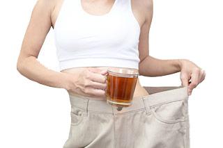 mit Tee gewicht verlieren