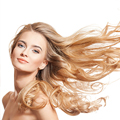blonde woman with long full hair